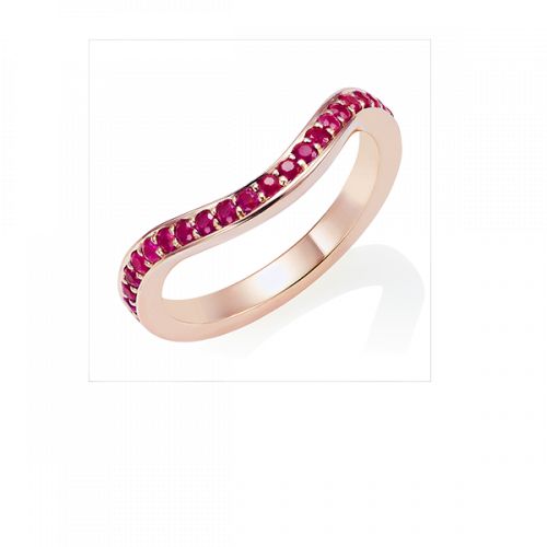 Ruby Keeper Eternity Ring, 18ct Rose Gold