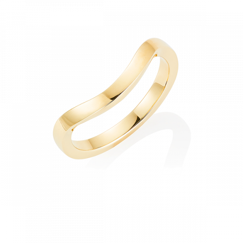 Gold Keeper Ring,  18ct Yellow Gold
