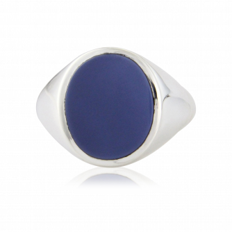 Stone Set Oval Signet Ring | Sardonyx | Platinum