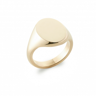 18ct Yellow Gold Signet Ring, Oxford Oval | Extra Heavy Weight