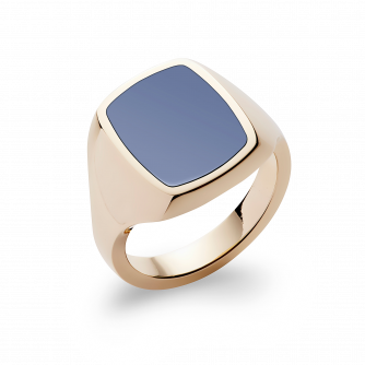 Stone Set Cushion Signet Ring | Sardonyx | 18ct Yellow Gold