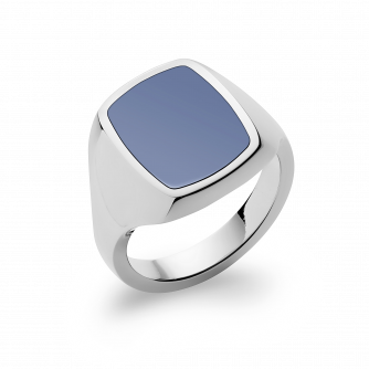 Stone Set Cushion Signet Ring | Sardonyx | Platinum