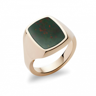 Stone Set Cushion Signet Ring
