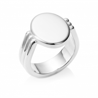 Oval Era Signet Ring 18ct White Gold