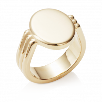 Oval Era Signet Ring 9ct Yellow Gold