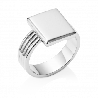 Era Signet Ring 9ct White Gold