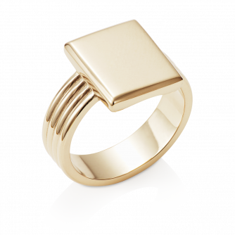 Era Signet Ring 18ct Yellow Gold