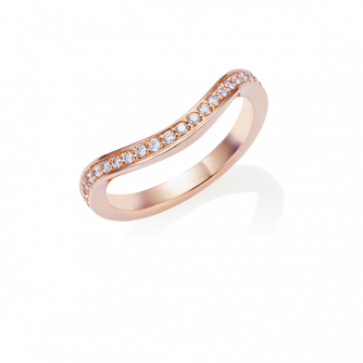 Diamond Keeper Eternity Ring, 18ct Rose Gold