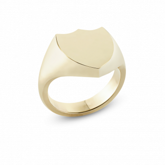 Shield Engrailed Signet Ring