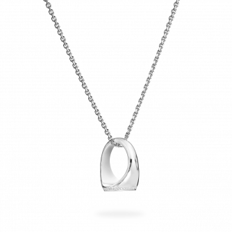 Diamond Set White Gold Signet Pendant
