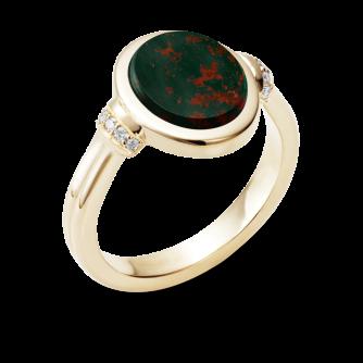 Stone Set Era Diamond Signet Ring