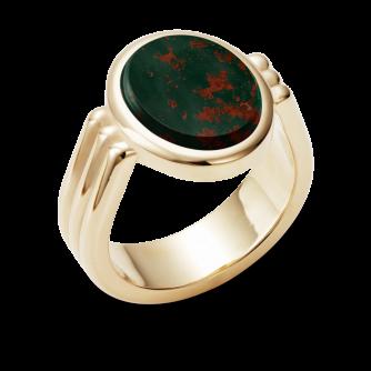 Stone Set Era Oval Signet Ring