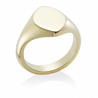 18ct Yellow Gold Signet Ring, Marquise