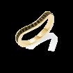 Black Diamond Keeper Eternity Ring, 18ct Yellow Gold