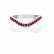 Ruby Keeper Eternity Ring, 18ct White Gold