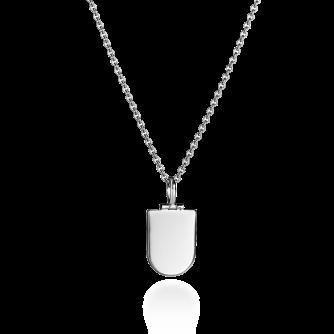 White Gold Shield Pendant