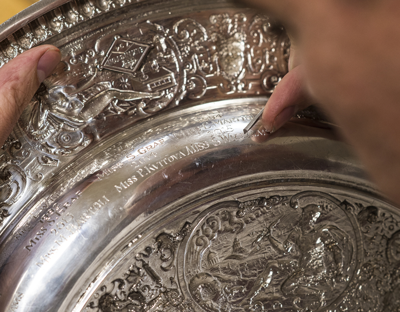 Roman Zoltowski: 35 years of engraving Wimbledon